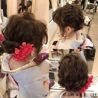ヘアアレンジ 成人式 ボブ 波ウェーブ ヘアスタイルや髪型の写真・画像