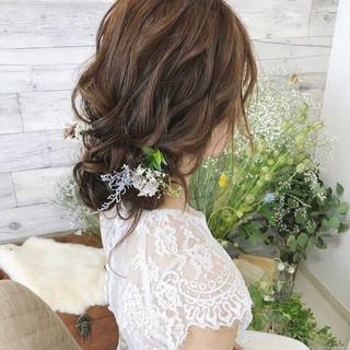 おしゃれさんと繋がりたい 結婚式ヘアアレンジ セミロング ヘアアレンジ ヘアスタイルや髪型の写真・画像 ヘアスタイルや髪型の写真・画像