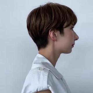 3Dハイライト スライシングハイライト 大人ハイライト ナチュラル ヘアスタイルや髪型の写真・画像