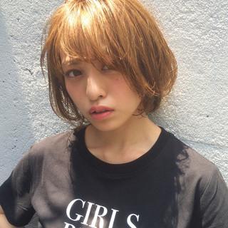 ショート ナチュラル デート 涼しげ ヘアスタイルや髪型の写真・画像