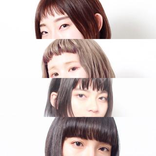 オン眉 モード ショート ショートバング ヘアスタイルや髪型の写真・画像