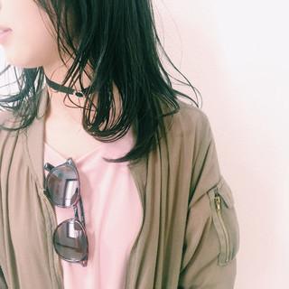 黒髪 暗髪 透明感 ダークアッシュ ヘアスタイルや髪型の写真・画像
