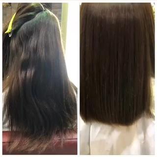 縮毛矯正 ロング ナチュラル へアミルク ヘアスタイルや髪型の写真・画像