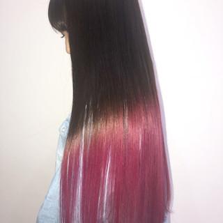 ロング レッド 外国人風カラー ストリート ヘアスタイルや髪型の写真・画像
