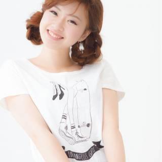 ガーリー 愛され ヘアアレンジ 三つ編み ヘアスタイルや髪型の写真・画像