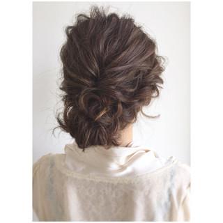 ミディアム ヘアアレンジ 夏 大人かわいい ヘアスタイルや髪型の写真・画像