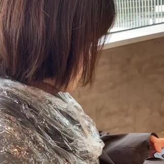 アンニュイほつれヘア 銀座美容室 ナチュラル ボブ ヘアスタイルや髪型の写真・画像