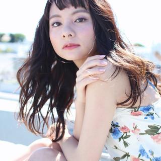 外国人風 パーマ ピュア ヘアアレンジ ヘアスタイルや髪型の写真・画像