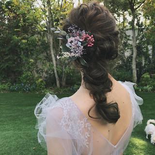 ナチュラル 簡単ヘアアレンジ ヘアアレンジ ロング ヘアスタイルや髪型の写真・画像 ヘアスタイルや髪型の写真・画像
