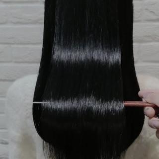 ナチュラル 縮毛矯正 美髪 髪質改善 ヘアスタイルや髪型の写真・画像