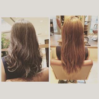 外国人風カラー ミディアム グレージュ 外国人風 ヘアスタイルや髪型の写真・画像