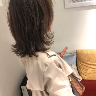 女子力 ミディアム フェミニン エフォートレス ヘアスタイルや髪型の写真・画像
