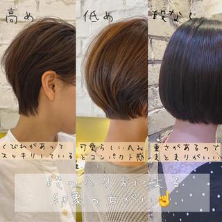 ショートヘア ハンサムショート ショートボブ ナチュラル ヘアスタイルや髪型の写真・画像