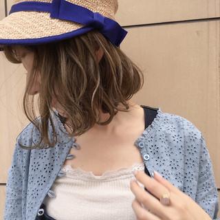 リラックス 女子会 ボブ 雨の日 ヘアスタイルや髪型の写真・画像