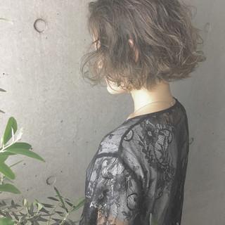 透明感 ナチュラル ボブ 色気 ヘアスタイルや髪型の写真・画像
