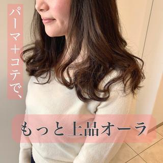 髪質改善トリートメント ナチュラル デジタルパーマ パーマ ヘアスタイルや髪型の写真・画像