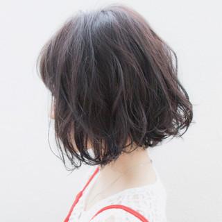 ヘアアレンジ ボブ ゆるふわ 大人かわいい ヘアスタイルや髪型の写真・画像