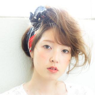 ヘアアレンジ ロング パーマ 夏 ヘアスタイルや髪型の写真・画像