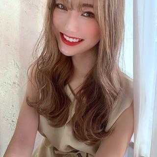 前髪 オルチャン シースルーバング ナチュラル ヘアスタイルや髪型の写真・画像