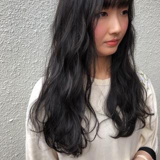 簡単ヘアアレンジ ナチュラル可愛い 地毛風カラー 暗髪 ヘアスタイルや髪型の写真・画像