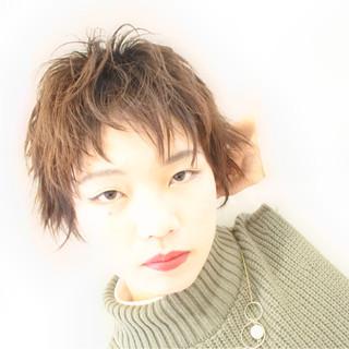 かっこいい ショート ハイライト ナチュラル ヘアスタイルや髪型の写真・画像