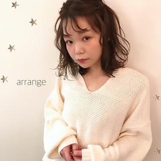 ヘアアレンジ ミディアム デート 簡単ヘアアレンジ ヘアスタイルや髪型の写真・画像