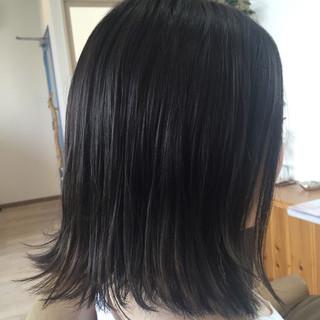 ガーリー ボブ ウェットヘア 外ハネ ヘアスタイルや髪型の写真・画像