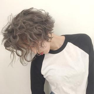 外国人風カラー ストリート グラデーションカラー ショート ヘアスタイルや髪型の写真・画像
