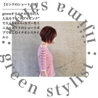 オルチャン 小顔 ストリート ショート ヘアスタイルや髪型の写真・画像 ヘアスタイルや髪型の写真・画像