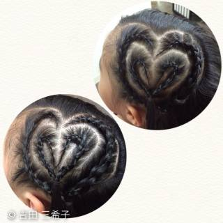 ヘアアレンジ コーンロウ 子供 ロング ヘアスタイルや髪型の写真・画像
