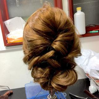 大人女子 ヘアアレンジ セミロング アップスタイル ヘアスタイルや髪型の写真・画像