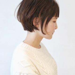 ミニボブ ショートヘア ショートボブ ショート ヘアスタイルや髪型の写真・画像