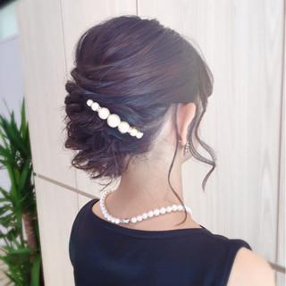 ヘアアレンジ 簡単ヘアアレンジ 二次会 結婚式 ヘアスタイルや髪型の写真・画像
