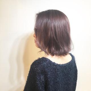 小顔 大人女子 フリンジバング ボブ ヘアスタイルや髪型の写真・画像