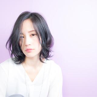 レイヤーカット 春 色気 パーマ ヘアスタイルや髪型の写真・画像