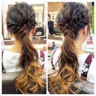 コンサバ 結婚式 まとめ髪 ヘアアレンジ ヘアスタイルや髪型の写真・画像