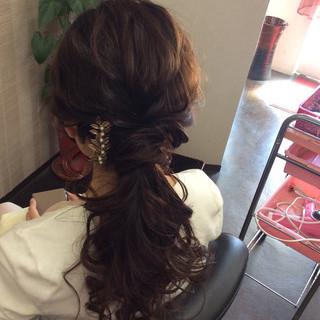 ヘアアレンジ 結婚式 ナチュラル 簡単ヘアアレンジ ヘアスタイルや髪型の写真・画像