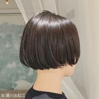 大人かわいい ミニボブ モード 切りっぱなしボブ ヘアスタイルや髪型の写真・画像
