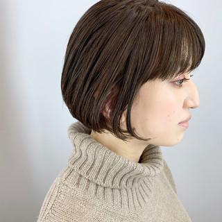 オフィス ナチュラル 前髪 グレージュ ヘアスタイルや髪型の写真・画像