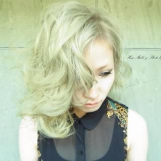ブリーチ ハイトーン ブラウンベージュ 外国人風カラー ヘアスタイルや髪型の写真・画像