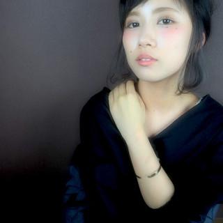 イルミナカラー フェミニン ヘアアレンジ 大人女子 ヘアスタイルや髪型の写真・画像