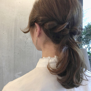 梅雨 デート ヘアアレンジ ミディアム ヘアスタイルや髪型の写真・画像