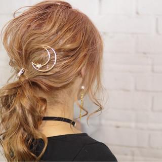 ゆるふわ 外国人風 ヘアアレンジ セミロング ヘアスタイルや髪型の写真・画像