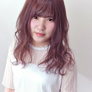 フェミニン ゆるふわ ピンク デート ヘアスタイルや髪型の写真・画像