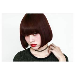 ボブ 外国人風カラー 外国人風 ワンレングス ヘアスタイルや髪型の写真・画像
