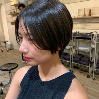 ショート ショートヘア 髪質改善カラー ナチュラル ヘアスタイルや髪型の写真・画像