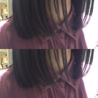 ノームコア ミディアム 外国人風 ストレート ヘアスタイルや髪型の写真・画像