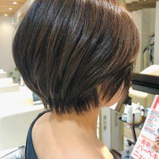 3Dハイライト ショートヘア 小顔ショート ハンサムショート ヘアスタイルや髪型の写真・画像