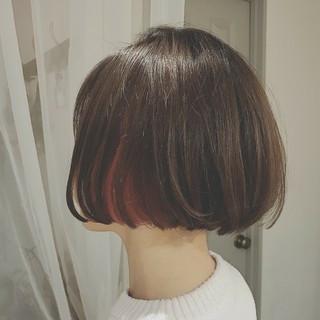 フェミニン デート 色気 ボブ ヘアスタイルや髪型の写真・画像