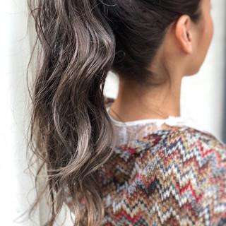 イルミナカラー ヘアアレンジ ナチュラル ロング ヘアスタイルや髪型の写真・画像